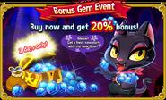 Bonus Gem Event - Black Pearl Cat