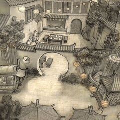 Noodle Shop environment layout; art by Brian White