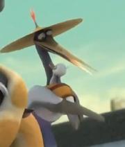 Master Crane Hugs a Kid