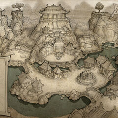 World Map design and rough layout; art by Brian White