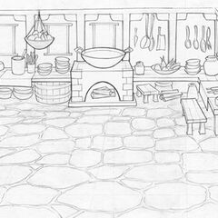 Noodle Shop Kitchen background layout; art by Brian White