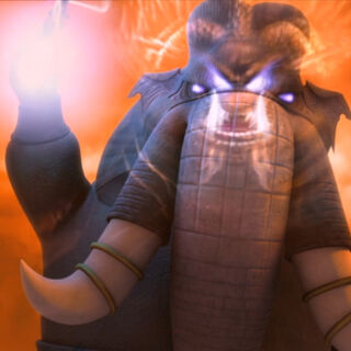 Elephant possessed by Xian's spirit.