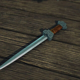 The dagger in form of a full-sized sword
