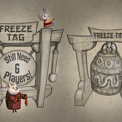 Freeze Tag mini-game concept; art by Brian White