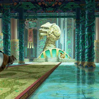 Early concept of the Hall of Warriors by Tang Kheng Heng & Bill Kaufmann