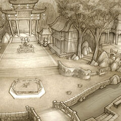Market Square environment layout; art by Brian White