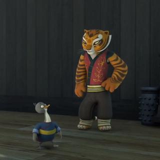 Tigress trying to teach Zan <a href=