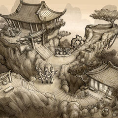 Dojo environment layout; art by Brian White