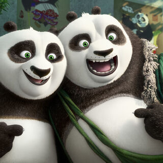 Po with his biological father <a href=