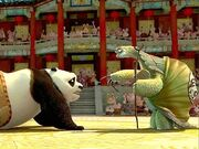 Kung fu panda master oogway points at the new dragon warrior-normal