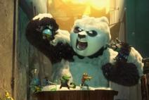 Po kung fu panda 3 -Po en la bañera-2