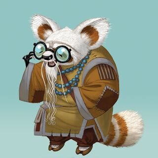 Early conceptual artwork of Shifu by Nicolas Marlet and Raymond Zibach