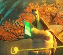 Yin yang staff