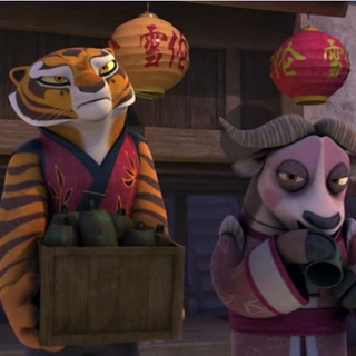 Tigress and Xiao Niao preparing for the Winter Festival feast.