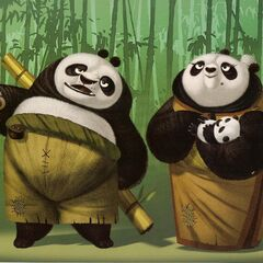 Concept artwork of Po's parents by Nico Marlet and Raymond Zibach