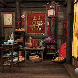 Hut interior model art by Steam Bian