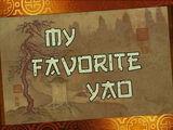 My Favorite Yao/Transcript