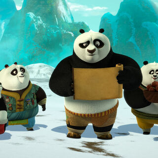 Po and the kids find their way to the cave