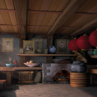 Inside the shop kitchen in <i><a href=