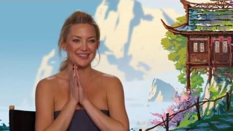 """Kung Fu Panda 3 """"Mei Mei"""" On-Set Interview - Kate Hudson"""