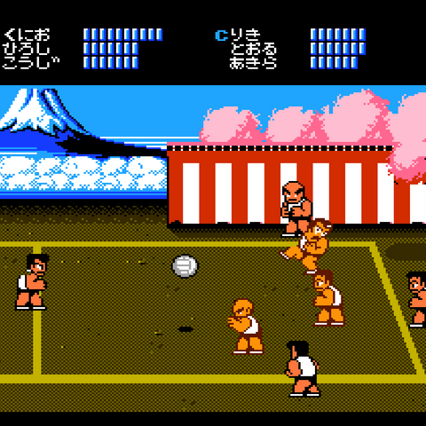 The first match in the Japanese version.