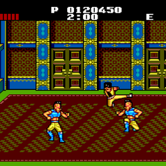 One of the rooms in the final level, fighting clones of <b>Joel</b>.