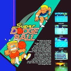 <i>Super Dodge Ball</i> arcade flyer.