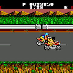 Second area of the second stage, the bike chase.