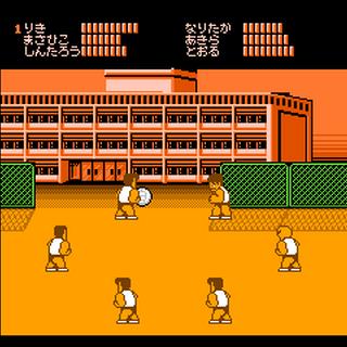 Club Activity gameplay as the Hanazono Team in <i>Hanazono Kōkō Dodgeball Bu</i>.