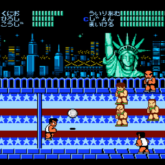 The final match against the final team in the American in the Japanese version.