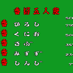 Ranking screen in the Japanese version.
