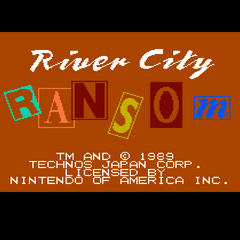 <i>River City Ransom</i> title screen.