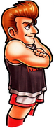 Arwork de Johnny de perfil - Nekketsu! Street Basket Ganbare Dunk Heroes
