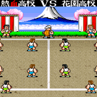 The two rival high schools led by Kunio and Riki are about to face off.