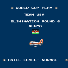 The North American version shows the country's flag. Africa becomes Kenya and they are faced in Stage 6 instead of 7.