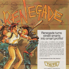 <i>Renegade</i> arcade flyer.