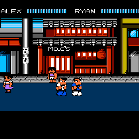 One of two different child characters added to the shopping districts in the Western versions of the game.