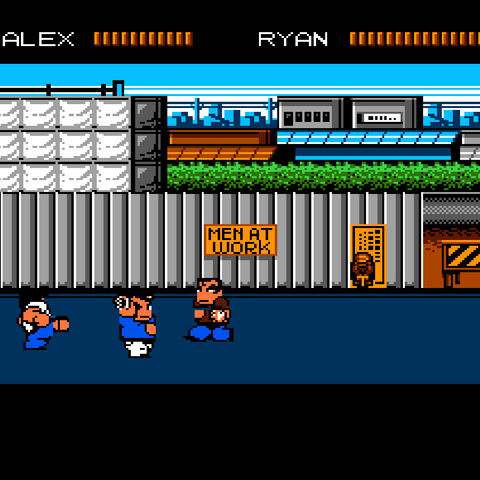 Characters in the Western versions of the game have t-shirts and jeans.