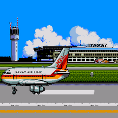 thumb|The airport scene from the arcade version.