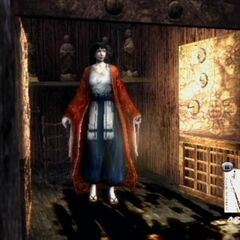 Utsuki in the Manor's Small Shrine.