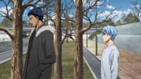 Aomine and Kuroko after practice