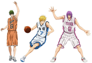 Anime Midorima, Kise and murasakibara
