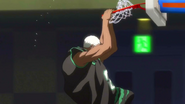Double-handed windmill dunk anime