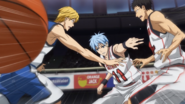 Kuroko saves the ball again anime