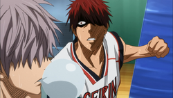 Kagami about to punch Hara