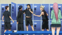 Aomine threatens his teammate