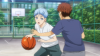 Kuroko with Ogiwara in their childhood