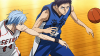 Kuroko steals the ball back from Kasamatsu