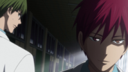 Midorima notices a change in Akashi anime