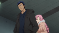 Aomine and Momoi go watch semi-finals